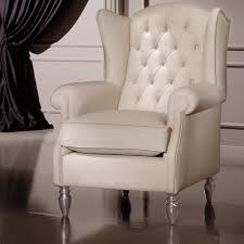 designer italian leather wing style armchair juliettes interiors