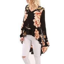 blouse ruffles blouse 2017 autumn tops vintage floral print
