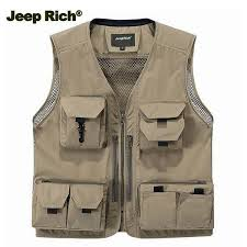 jeep rich jacket jeep rich multi pockets sleeveless mesh vest jacket multi functional