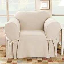 slipcover chair amazon com sure fit cotton duck chair slipcover
