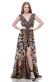print dress embellished dress cheetah print dress shahida parides