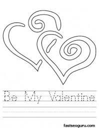 printable valentine worksheet coloring printable