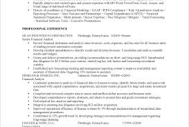 resume of financial analyst financial analyst resume summary writing resume sample writing
