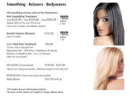 haircut express prices price menu smoothing relaxer bodywaves christie salon co