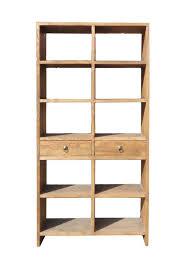 rustic wood display cabinet rustic raw wood open shelf bookcase display cabinet cs1207s