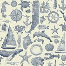 york wallcoverings nautical living anchor away wallpaper ny4915