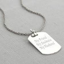 tag necklace mens images Personalised polished sterling silver dog tag necklace by jpg