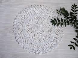 lace crochet round doily white lace crochet centerpiece crochet