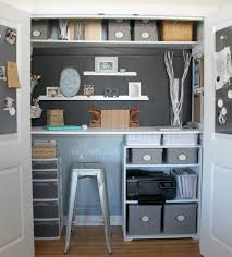 Small Space Office Ideas Small Office Organizing Ideas Closet Office Makeover