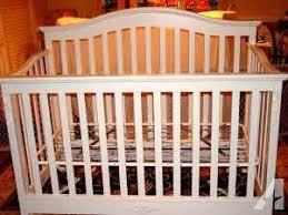 Lajobi Convertible Crib Lajobi Mon Cheri White Convertible Crib Euc Summerfield Nc