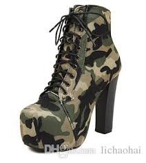womens tactical boots australia 2015 motorcycle boots high heels camouflage platform pumps