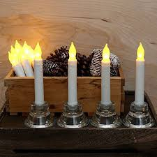 12pcs flameless led taper candles for wedding