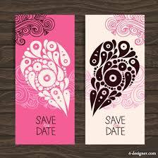 wedding invitation card design template 4 designer wedding invitation card design template vector material 04