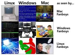 Windows Vs Mac Meme - linux vs windows vs mac as seen by fanboys weknowmemes
