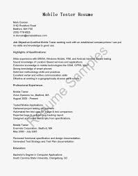 Sample Resume For Experienced Software Tester by Download Mobile Testing Resume Haadyaooverbayresort Com