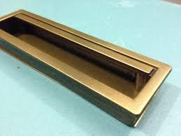Recessed Closet Door Pulls 1 Recessed Drawer Pull Mid Century Style Drawer Pullcabinet