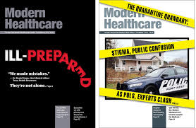 one year after redesign a healthcare magazine sports covers with