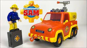 unboxing fireman sam venus fire truck working water pump