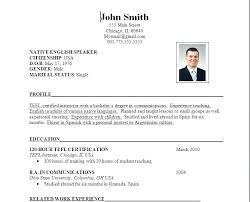 exle of simple resume format this is simple resumes articlesites info