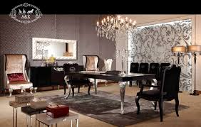 black silver dining table simple black and silver dining room set