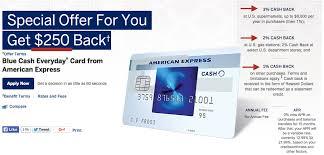 250 bonus up from 100 amex blue cash everyday card american