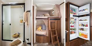 kitchen designs jay flight travel trailer ideas with bunkhouse