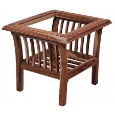 teak wood side table buy woodofa raw furniture side table in delhi