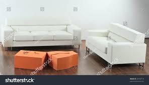 modern minimalist livingroom white furniture stock photo 32702719