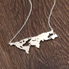 custom necklaces cheap custom world map sterling silver necklace personalized state