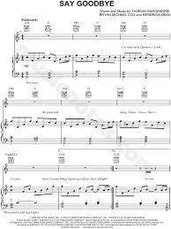 chris brown say goodbye sheet in a minor transposable