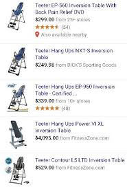 Teeter Ep 560 Inversion Table 109 Best Best Inversion Tables Images On Pinterest Inversion