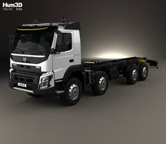 volvo model trucks volvo fmx chassis truck 4 axle 2013 3d model hum3d
