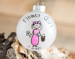 flower girl christmas ornament ring bearer flower girl christmas ornament personalized for
