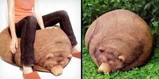 cool sleeping bear bean bag unusual things