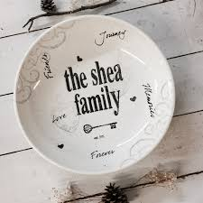 personalized housewarming gifts 2008nan f hand painted personalized pottery family name bowl