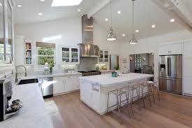 Long Kitchen Ideas by Best Open Plan Kitchen Lighting Ideas With Nice Long Kitchen