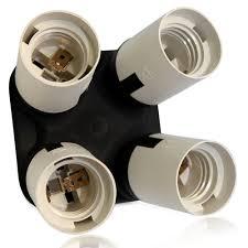 standard light bulb base e26 4 in 1 e26 e27 socket splitter adapter for photo studio home