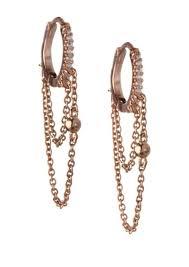 huggie earring bcbg bcbgeneration cubic zirconia hinged huggie earrings jewelry
