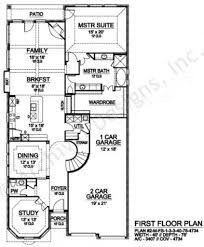 Narrow House Plans With Garage Limestone Ridge Small Luxury House Plans Luxury Plans
