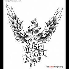 irish shamrock tattoo on back shoulder photos pictures and