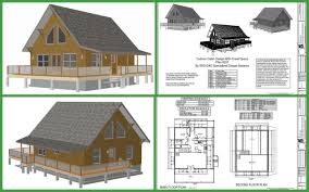 free a frame cabin plan with 3 bedrooms house cross section loversiq