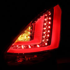 fiber optic tail lights spec d lt fst115rled tm chrome red fiber optic led tail lights