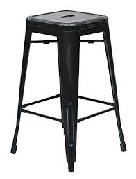 Black Metal Bar Stool Amazon Com Office Star Bristow Antique Metal Barstool 26 Inch