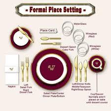 Setting Table 7 Best Etiquette Set The Table Images On Pinterest Dinner
