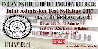 jam exam pattern 2016 download joint admission test syllabus 2017 iit jam syllabus for b sc