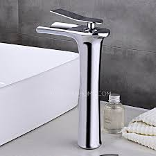 Bathroom Waterfall Faucet End Copper Tall Vessel Waterfall Bathroom Sink Faucet