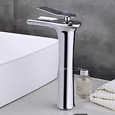 end copper tall vessel waterfall bathroom sink faucet