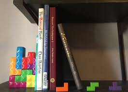 use your tetris skills to organize your bookshelf tetris