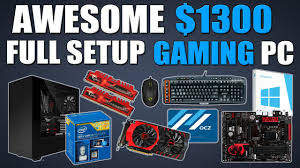 awesome 1300 full setup 1080p gaming pc includes kbm os and