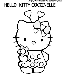 coloriage de hello kitty et son cheval